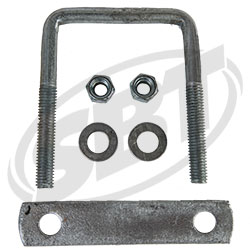 Trailer U-Bolts with Frame Straps  3-1/ 8 x 4 & 5 strap